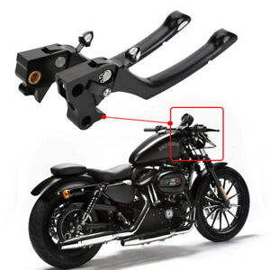 Black Front Hand Levers Brake Clutch Fit for Harley Sportster XL 883 1200 04-13