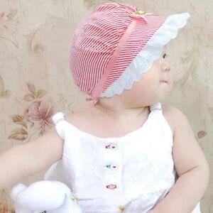 57b597bf541 Toddler Kids Baby Girls Outdoor Bucket Hats Summer Sun Beach Bonnet ...
