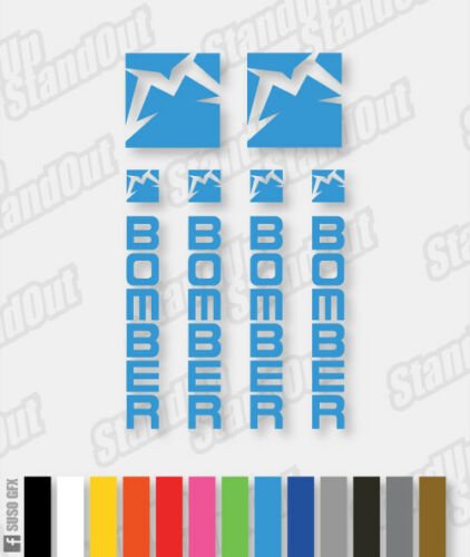Custom Fluorescent Colours Marzocchi Bomber Decals HORIZONTAL Stickers