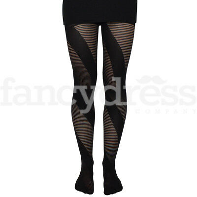 Cat Tights Stockings Effect Black Cat Halloween Costume Small UK SELLER