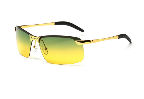 Day Night Vision Men/'s Polarized Sunglasses Driving Aviator Mirror Glasses UV400
