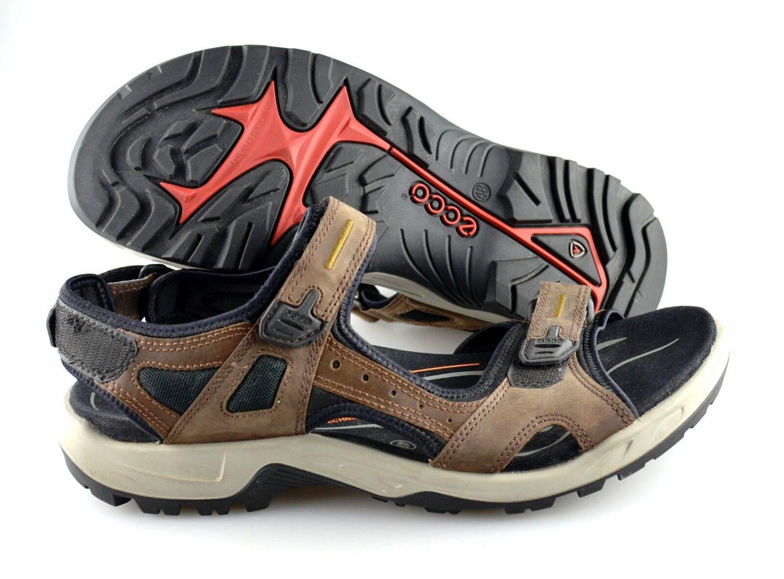 R - varones ecco 'Yucatan' marrón cuero sandalias, talla  US 14 EUR 48