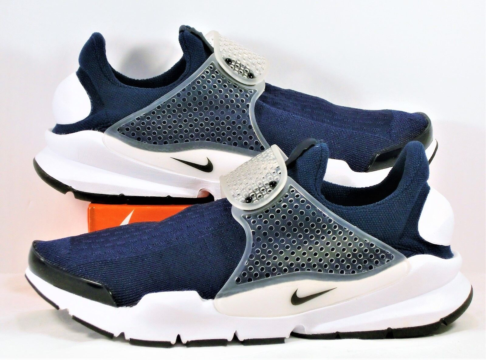 Nike Sock Dart KJCRD Midnight Navy Running & Training Shoes Sz 10 NEW 819686 400