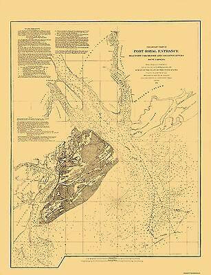 Old City Map - Hilton Head Island South Carolina Ship Channel 1862 - 23 x 29.94