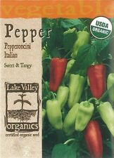 Organic Italian Pepperoncini Pepper Seeds - 450 mg