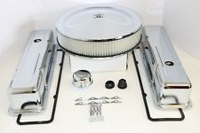 SB Chevy Chrome Engine Dress Up Kit Tall Valve Covers Air Cleaner 58-79 SBC 350