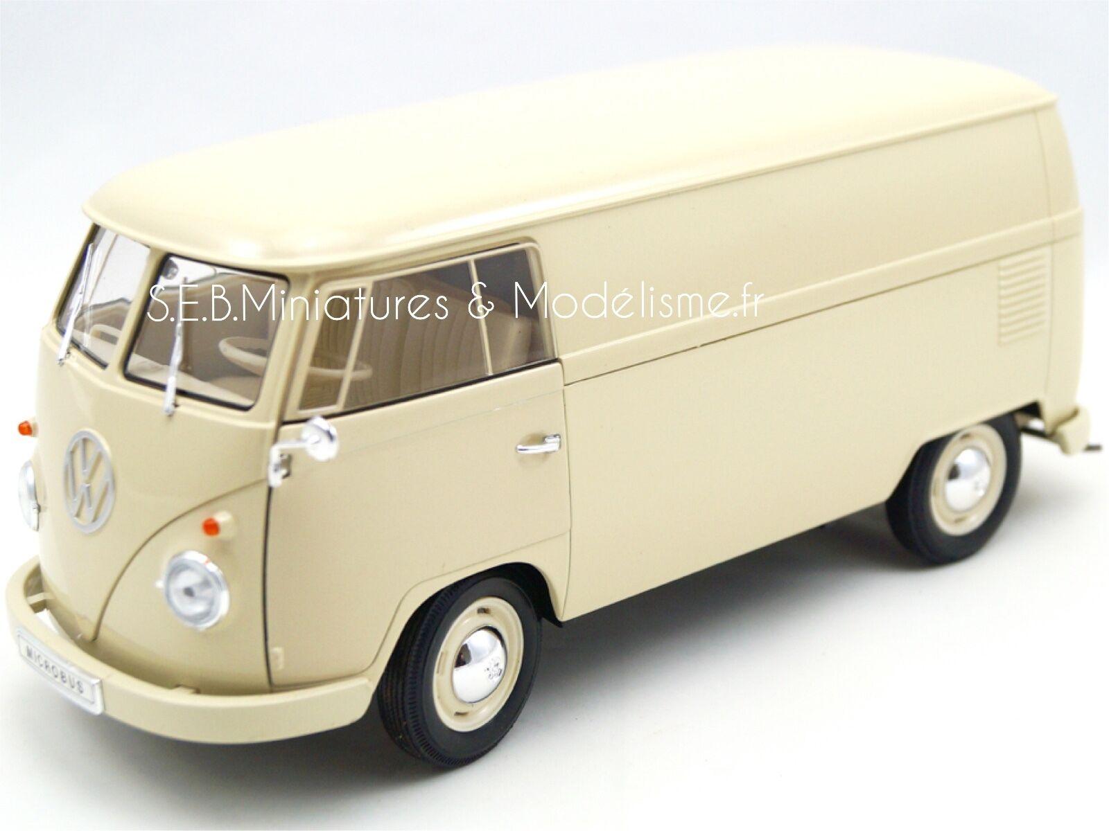 VW VOLKSWAGEN T1 FOURGON TOLE BEIGE 1963  WELLY 1 18 FE17SP