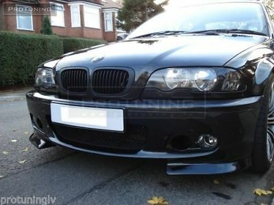 BMW 3 E46 M TECH FRONT BUMPER SPOILER PRIMED /& PREPARED