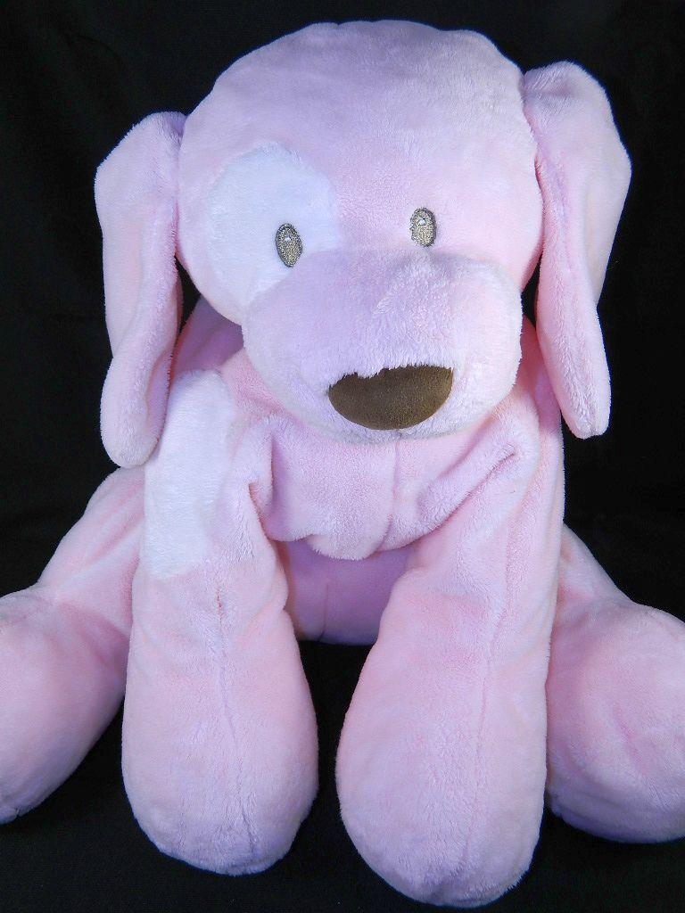 Baby Gund BIG SPUNKY Pink Plush Puppy Dog Dog Dog Stuffed Toy Animal White Eye b8eab5