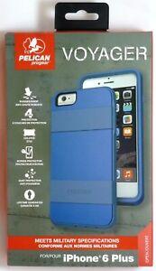 Pour-iPhone-6-S-Plus-Robuste-amp-Robuste-Etui-avec-etui-Pelican-Voyager-Bleu