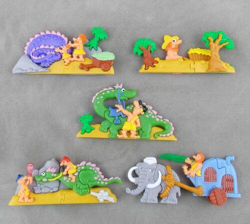 Satz Plastikpuzzle Geschichten Urzeit auf der Strasse 1997 Auswahl mit ohne BPZ