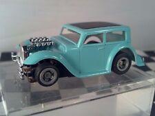 32 Chopped Hot Rat Rodl Teal Black Roof  Sedan  HO Scale Slot Car Body Only