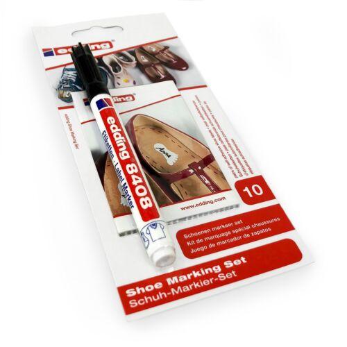 Edding 8408 Permanent Label Marker Shoe Marking Set 0.75mm Black Ink