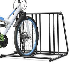 1-6 Bikes Floor Mount Bicycle Park Storage HD Steel Parking Rack Stand 2/3/4/5