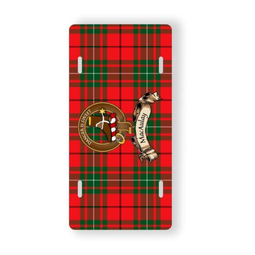 MacAulay Scottish Clan Novelty Auto Plate Tag Family Name License Plate