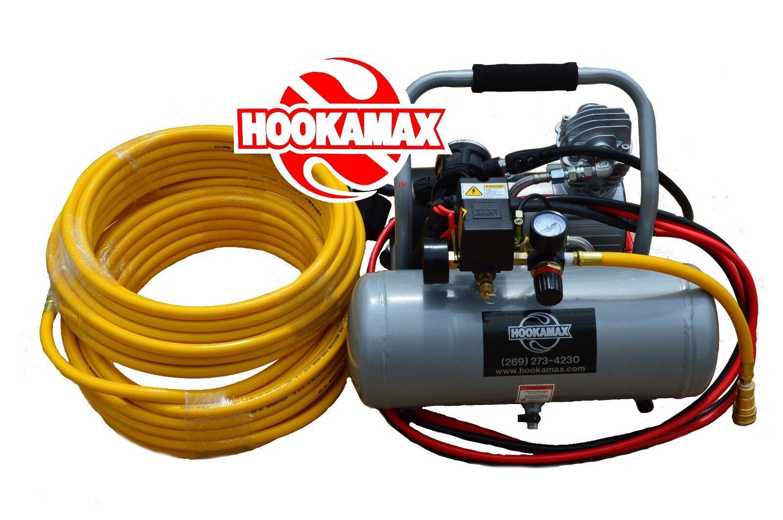 Hookamax Aluminum 12v (Battery) Hookah diving hookah with a single 100 ft hose