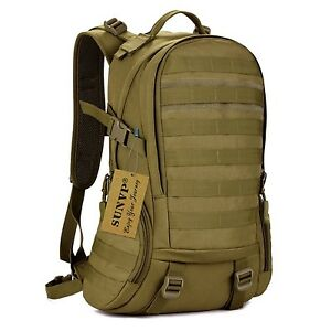 Huntvp 35L Tactical Daypack Military Backpack Gear MOLLE Student School Bag A...