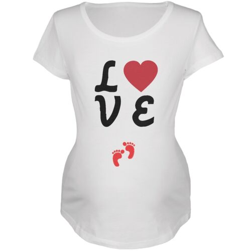 Valentine/'s Day Love Baby Red Feet Womens Soft Maternity T-Shirt