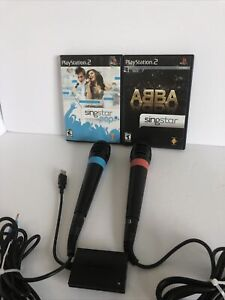 Singstar Bundle ( 2 Microphones, 2 Games) Abba & Pop