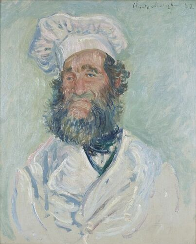 Claude Monet The Chef Pere Paul Giclee Fine Art Print Repro on Canvas