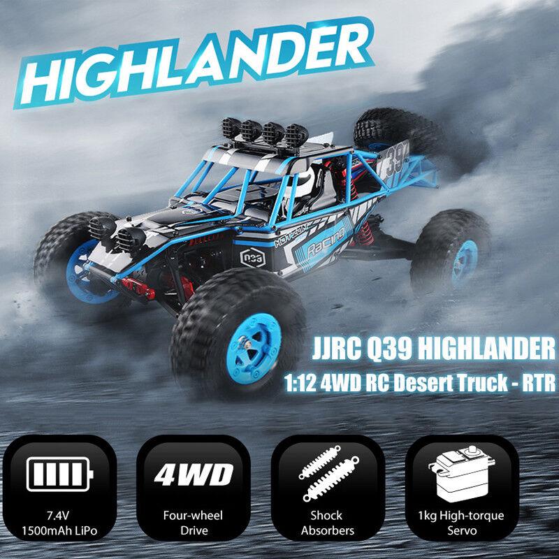 Jjrc Q39 Highlander 1 12 4wd 2.4ghz Rc Désert Camion 35km H 1kg High-Torque