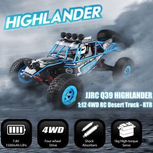 Jjrc Q39 Highlander 1:12 4wd 2.4ghz Rc Désert Camion 35km/h 1kg High-torque