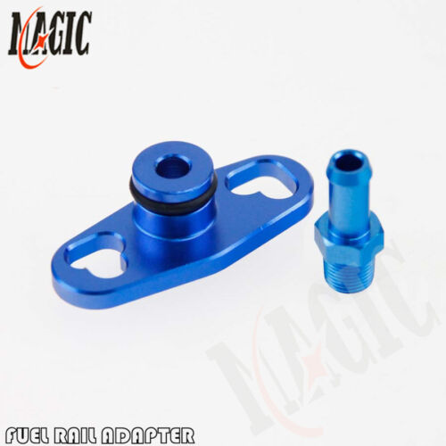 NEW FUEL RAIL ADAPTER With 6mm Tail For Mitsubishi Evo 4up TOYOTA NISSAN SUBARU
