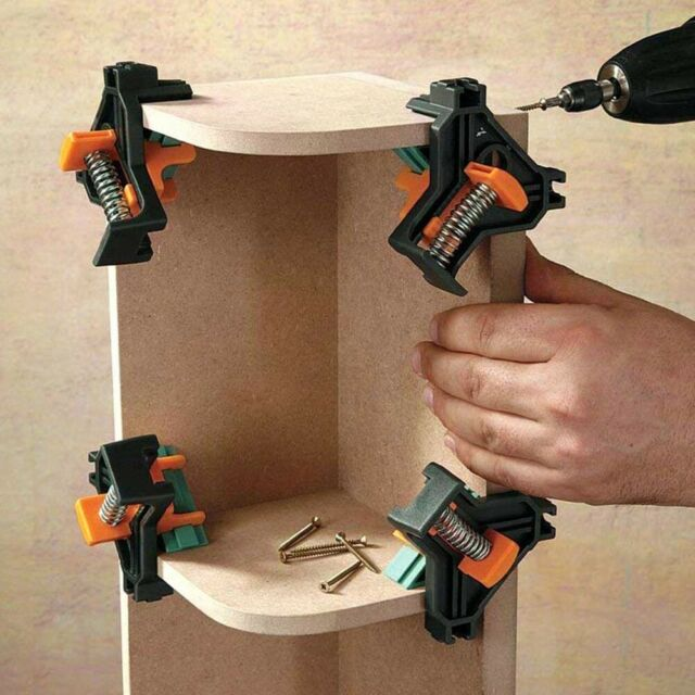 Adjustable Corner Clamp 90 Right Angle Clamp Woodworking Vice Metal For Sale Online Ebay