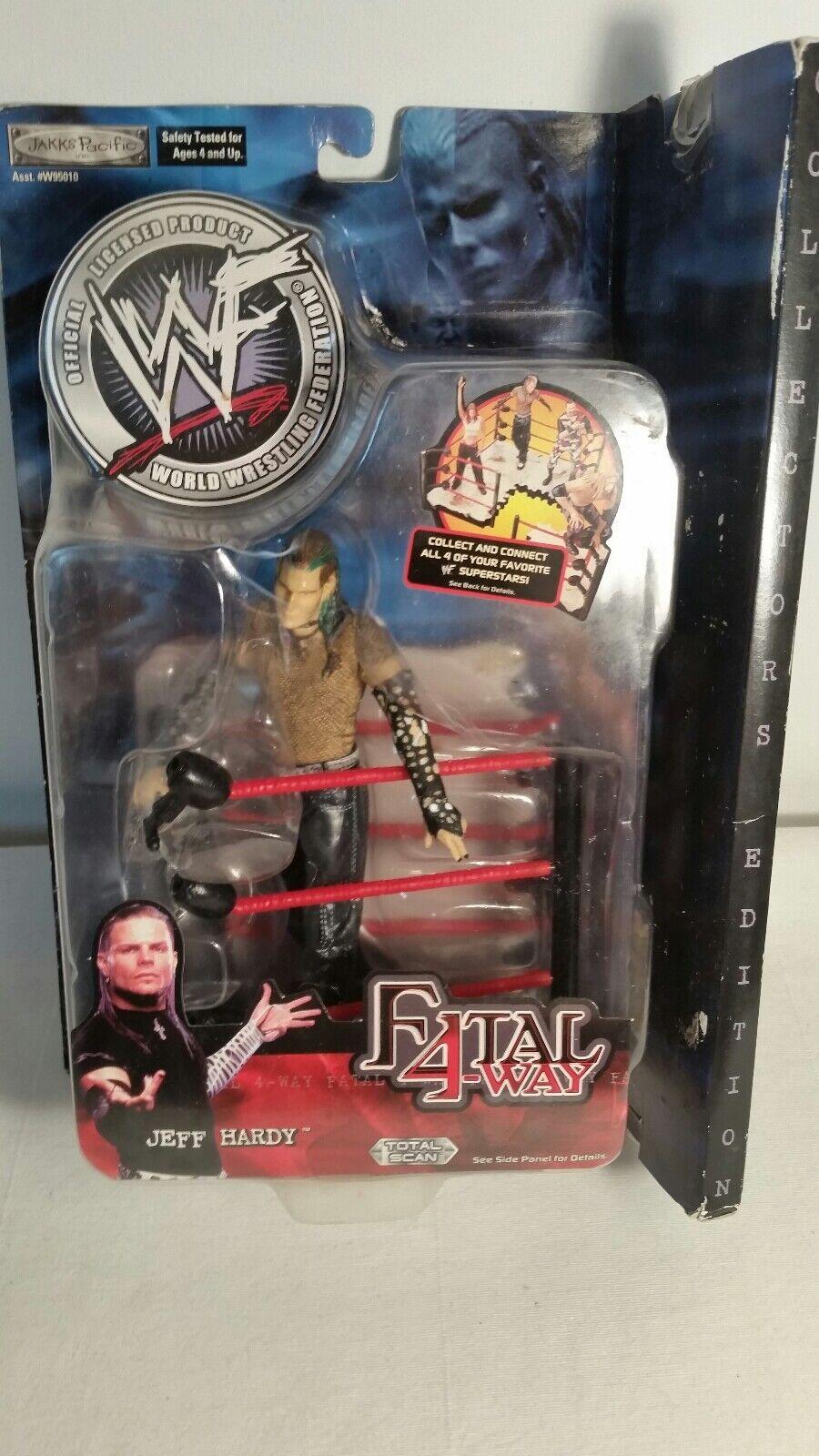 WWE Jeff Hardy Fatal 4 Way Action Figure Jakks Pacific Wrestling 2001 Series 4