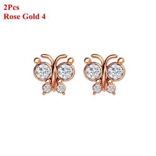 Piercing Jewelry Tragus Earrings Cartilage Helix Zircon Ear Studs Gecko Shape
