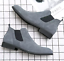 UK-Mens-Formal-High-Top-Chelsea-Ankle-Boots-Shoes-Faux-Suede-Casual-Shoes-Chukka thumbnail 5