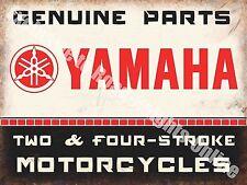 Yamaha Classic 70's Retro Motorcycle, Bike 106 Old Garage, Large Metal/Tin Sign