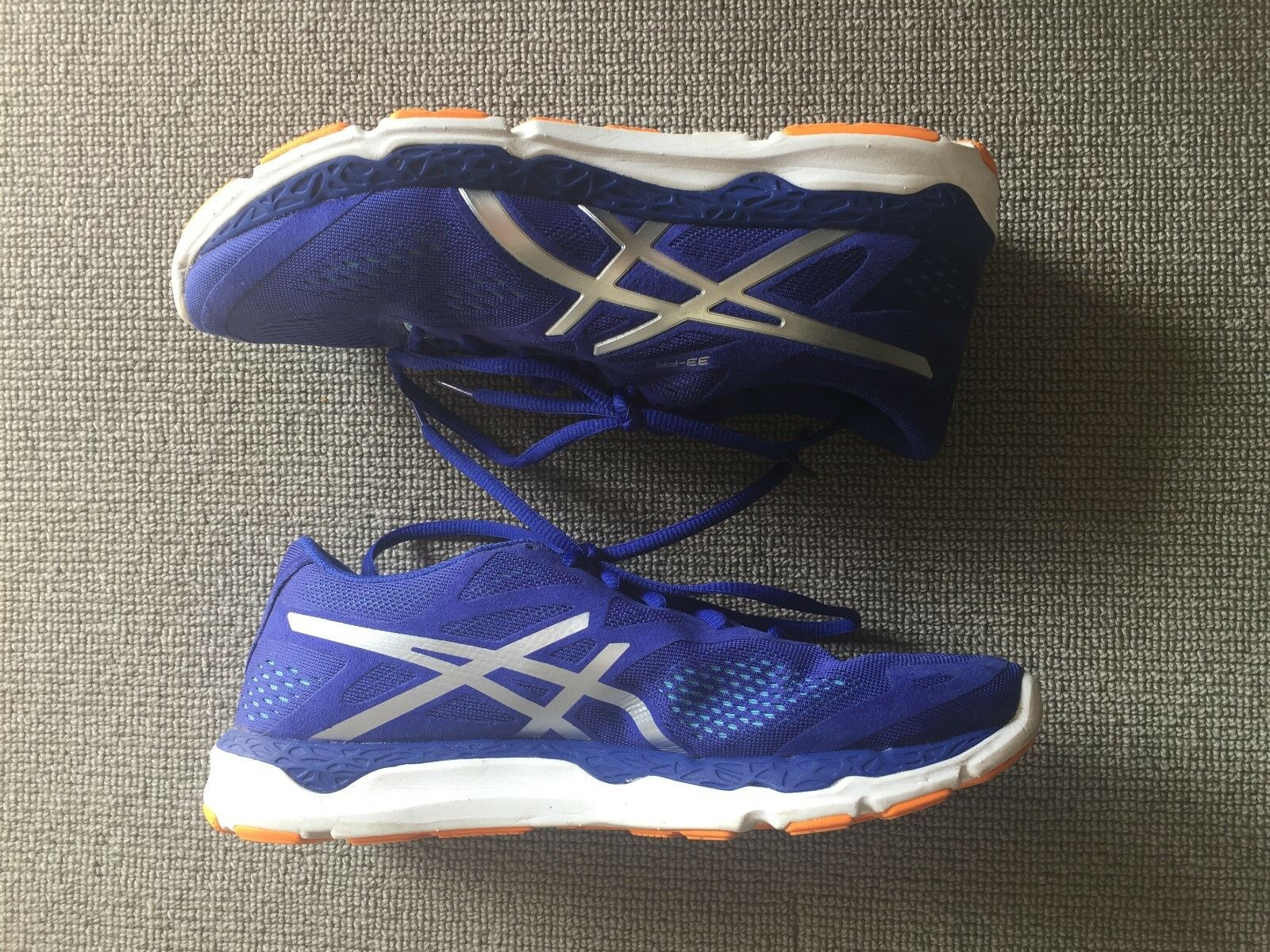 ASICS Fluid Axis 33-FR size Euro 40, 40, 40, US 8.5 neon bluee trainer ba19be