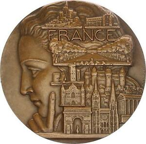M2664-RARE-Medaille-France-Concours-Maisons-Fleuries-Prefet-Rambouillet-Turin
