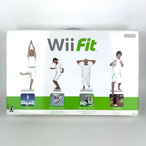 Nintendo Wii Fit Exercise Fitness Workout Yoga Balance Board & Game Complete