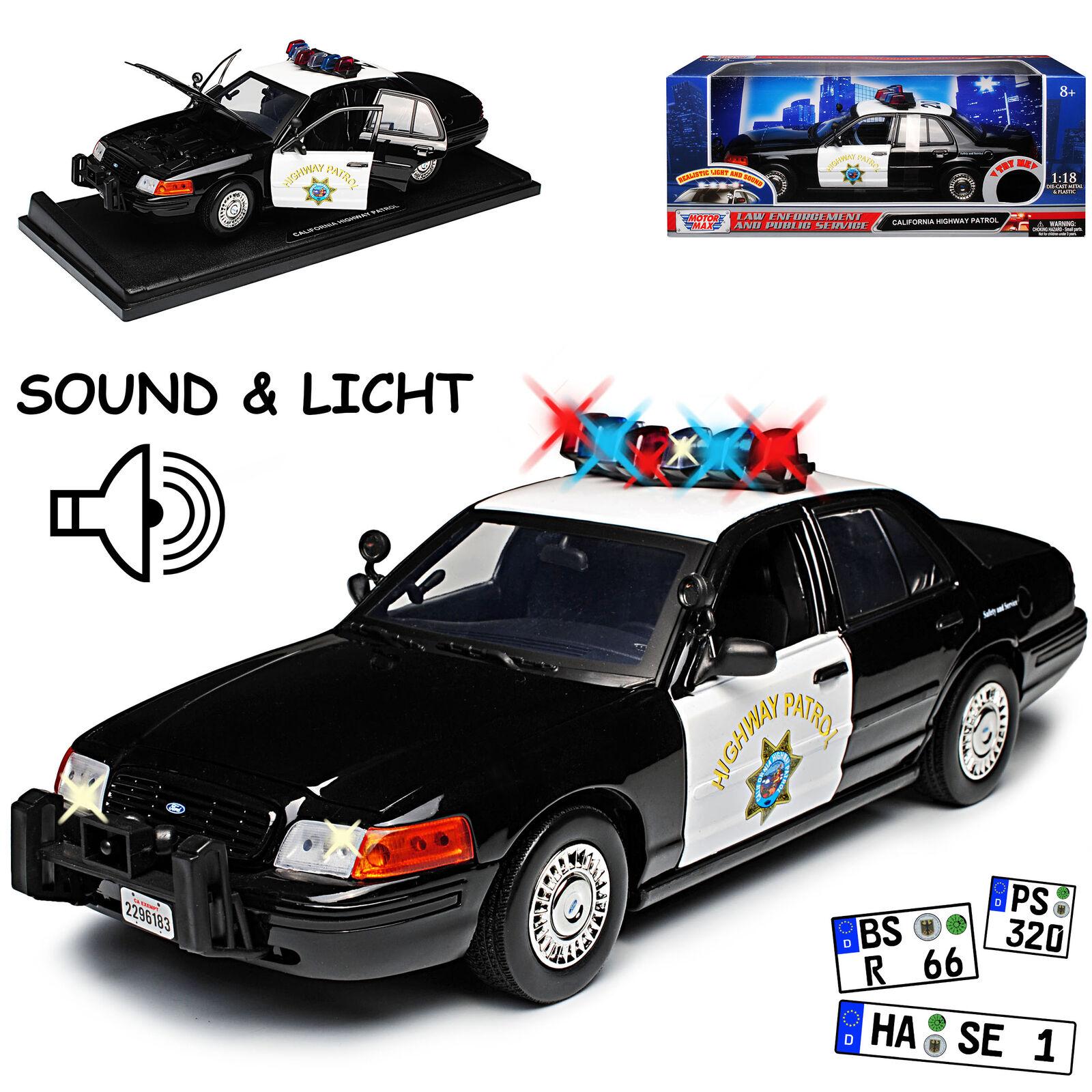 Ford Crown Victoria California Highway Patrol Police Polizei mit Licht und Sou..