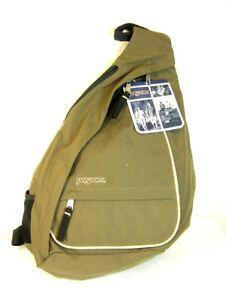Image Is Loading Jansport Crossshoulder Sling Bag Boardwalk Shiitake Brown