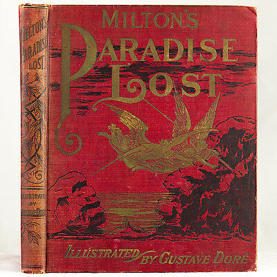 1901 GUSTAVE DORE ILLUSTRATED PARADISE LOST MILTON SATAN DEVIL ANGEL HELL OCCULT