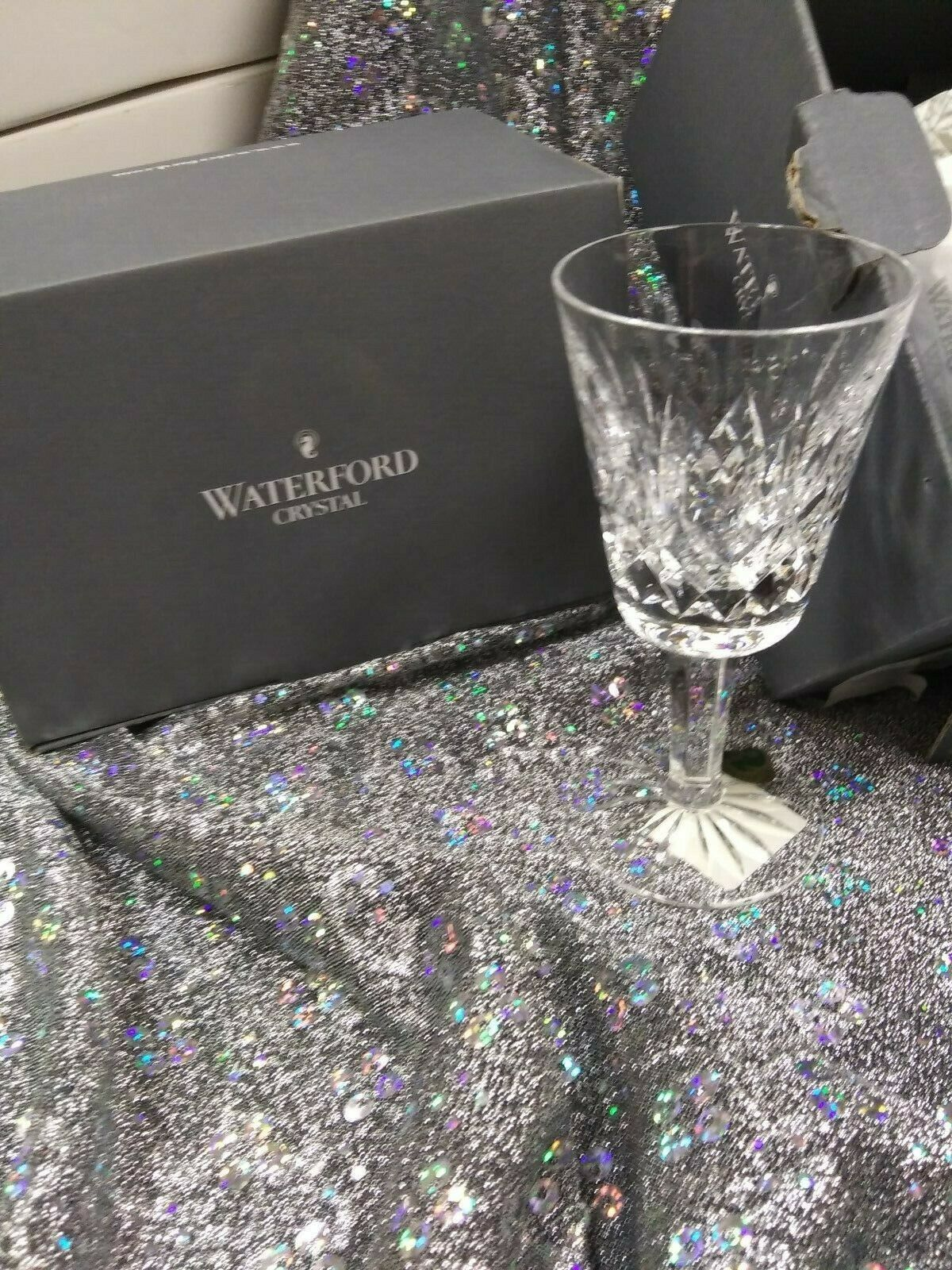 WATERFORD Lismore Vin Blanc Lot de 6 verres cristal 4 oz (environ 113.40 g)