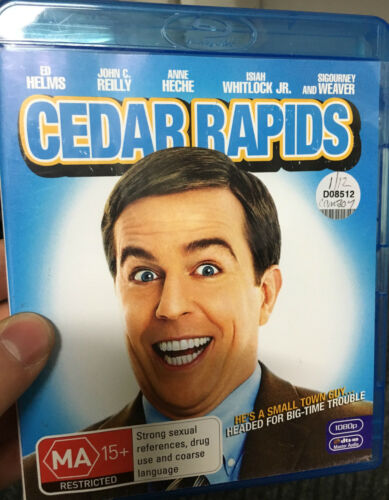 1 of 1 - Cedar Rapids ex-rental Blu Ray (Ed Helms, Sigourney Weaver comedy movie) CHEAP