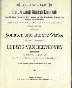 Beethoven-Sonaten-Erster-Band-10-Sonaten-Op-2-14-privat-gebunden