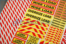 14th Scale Truck Warning Safety Sign Decals Stickers Oversize Wide Load Long
