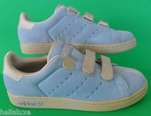 RARE~Adidas STAN SMITH 2 CF VELOUR fafi honey attitude Shoe sneaker~Women sz 9.5