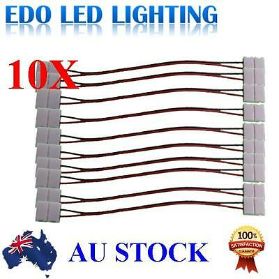 10pcs LED Strips PCB with wire Double End Connector Adapter for 3528 LED Strip