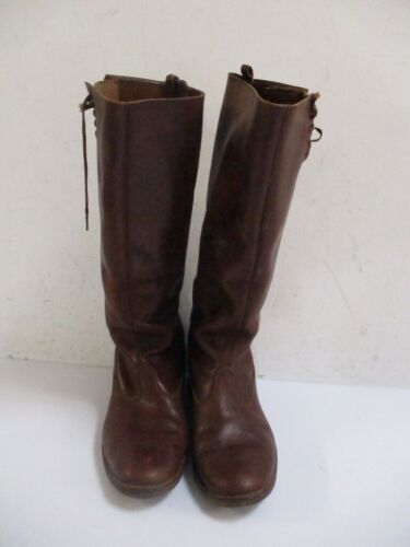 Vintage 1940s Brown Leather Work Motorcycle Boots