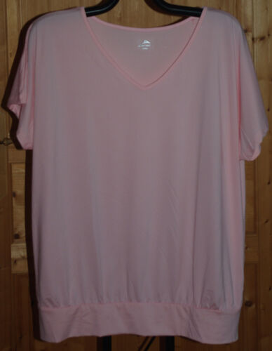 TEE-SHIRT FITNESS MANCHES COURTES ROSE ACTIVE TOUCH T 50-52  NEUF