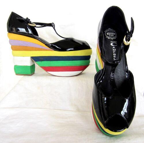 JEFFREY CAMPBELL SALVATORE Rainbow Platform Shoes