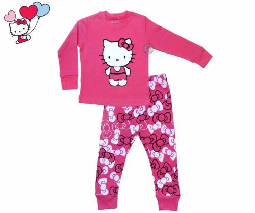 100/% Cotton 2-Piece Pajamas for Girls Hello Kitty