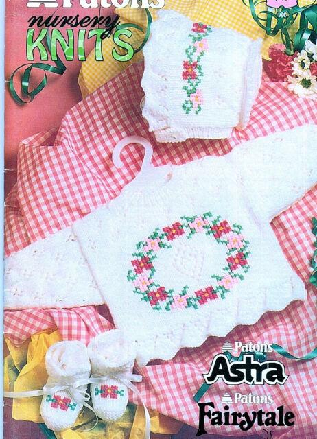 Baby Sweaters Cardigan Pants Hat Flowers Bears Nautical  Knitting PATTERNS