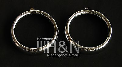 Scheinwerferzierringe (Paar) / set head lamp trim rings Fiat 1100 TV Farina